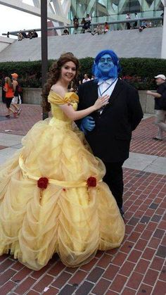 Belle and Beast cosplay