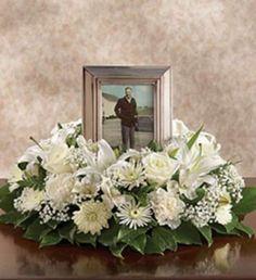 All-White Memorial Table Wreath