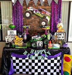Happy 6th Birthday Jacob!🎉💜🎈🎂 Thank you Evelyn for allowing Sweet Life Events to be part of Jacob's special day!❤🍭 #SweetLifeEvents #DulceVida #GraveDigger #monsterjamparty #MonsterTruck #KidsParty #candytable #dessertTable #CandyBuffet #inlandempire #bookEarly