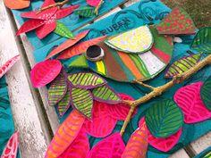 Les ateliers ARTiFun - atelier d'arts plastiques et loisirs créatifs en Guadeloupe: TI ZOZIOS School Art Projects, Craft Projects For Kids, Classe D'art, Art Du Collage, First Grade Art, Atelier D Art, Cardboard Art, Bird Crafts, Preschool Art