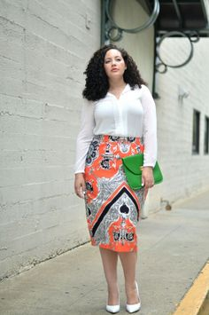 There are apparel for plus size women in bold, beautiful colors. You just have to be willing to find them. You were gifted with beauty, so embrace that beauty instead of hiding it.