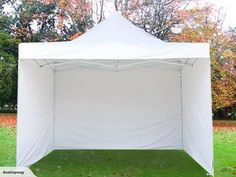 Gazebo + 3 Side Walls - Heavy Duty - White for sale on Trade Me, New Zealand's auction and classifieds website Side Wall, Stay Cool, Home Living, Cabins, Gazebo, Walls, Outdoor Structures, Easy, Kiosk