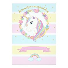Shop Unicorn Birthday Invitation created by YourMainEvent. Birthday Gifts For Girlfriend, Husband Birthday, Girl Birthday, Belated Birthday, Birthday Wishes, Happy Birthday Foil Balloons, Unicorn Birthday Invitations, Unicorn Pictures, English Lessons For Kids