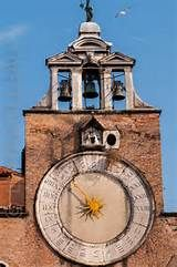 Arsenale Tower Clock in old Venice