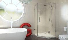 8 series Frameless Offset Quadrant Shower Enclosure 900 X front_angle rectangle large Corner Shower Enclosures, Quadrant Shower Enclosures, Bathroom Showrooms, Bathrooms, Small Showers, Shower Cubicles, Shower Doors, Shower Walls, Glass Shower