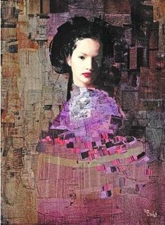 """""""Richard Burlet again . He's certainly managed to get a Klimt effect here especially with the pattern and colours. Figure Painting, Painting & Drawing, Richard Burlet, Foto Transfer, Guache, Art Moderne, Pics Art, William Morris, Portrait Art"""