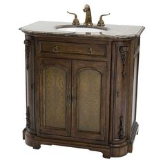 Ambella Home Camille Etched Sink Chest AH-10407-110-301