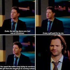 13x05 Because that's EXACTLY what Sam Winchester would do. I need to know if his pitch was convincing enough to get her to go, though