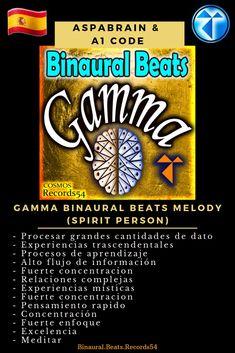 Artist 👉  Aspabrain & A1 Code Album 👉  Gamma Binaural Beats Melody (Spirit Person) -   Procesar grandes cantidades de dato  - Experiencias trascendentales  - Procesos de aprendizaje  - Alto flujo de información  - Fuerte concentracion  - Relaciones complejas  - Experiencias místicas  - Fuerte concentracion  - Pensamiento rapido  - Concentración  - Fuerte enfoque  - Excelencia  - Meditar   #binauralbeats #brainfoods  #binaural  #isotonictones #consciousness #oneness #awareness #knowthyself…
