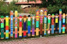 разрисованный забор своими руками