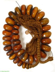 Moroccan 'Amber' Beads |  Not genuine amber, phenolic resin | strand 950.00$