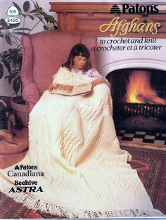 Patons Afghans To Crochet And Knit Vintage Book by amydscrochet, $6.00