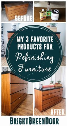 Top Three Products for Refinishing Furniture