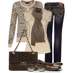 """Animal Print Cardigan"" by jaycee0220 on Polyvore...have my eye on a zebra print cardigan that would make this outfit:"
