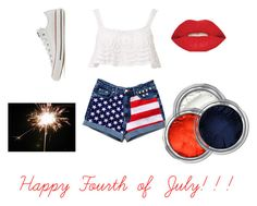 """Happy Fourth of July!"" by peerenboomel ❤ liked on Polyvore featuring Beauty & The Beach, Converse and Smashbox"