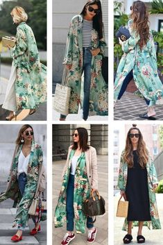 """A plus size spring kimono outfit. Casual and easy, my """"go-to"""" summer and spring outfit. Outfits Spring, Chic Outfits, Fashion Outfits, Cochella Outfits, Simple Outfits, Skirt Outfits, Fasion, Mode Kimono, Kimono Style"""
