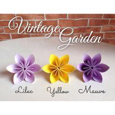 Vintage Garden  Origami Flowers 20pcs  by JUSTPATCHshop on Etsy