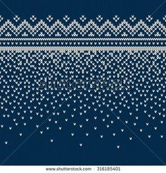 Christmas Sweater Design. Seamless Knitting Pattern - stock vector