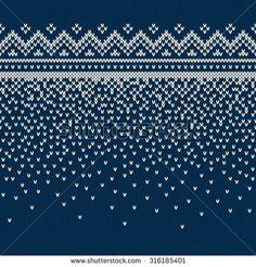 Christmas Sweater Design. Seamless Knitting Pattern                                                                                                                                                     Plus