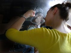 """Making of """"Inspiration"""" painting."""