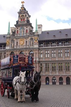 Antwerp, Belgium-This is smaller than other European cities, but has a lot to offer. Great bell tower, large shopping promenade, and be sure to take the tour on this horse drawn cart!