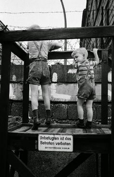 Children Playing at the Berlin Wall in 1963