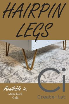 DIY IKEA hairpin legs. Create bespoke furniture with the right ingredients.