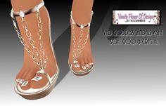 VHD Goddess Sandals 4SHF - Black/Gold/Diamond