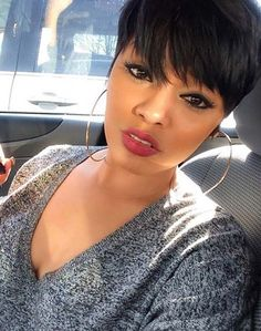 Short Black Hairstyles, Pixie Hairstyles, Hairstyles With Bangs, Everyday Hairstyles, Braided Hairstyles, Hairstyles 2018, Hairstyle Ideas, Pixie Haircuts, Funky Haircuts