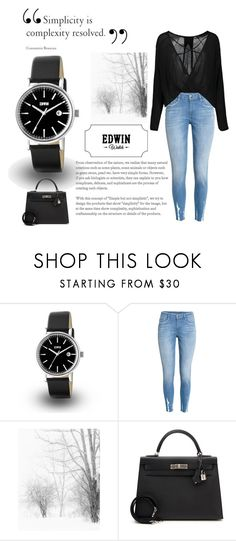 """""""Edwin watch - Our time together"""" by luci-fashionforever ❤ liked on Polyvore featuring Hermès"""