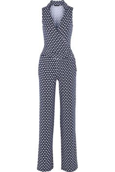 TartKenna wrap-effect printed modal-blend jumpsuit I like the fit but maybe another pattern or color