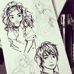 The rest of the Eleanor and Park sketch page from last night via Instagram. :3 #sketchbook #yafiction