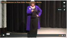 Carol Anderson on Voter Supression Banks, It Works, Believe, Lady, Nailed It, Couches