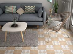 Pasión por los suelos decorados - Decorabien.com Decorabien.com #suelos #azulejos #ceramica #hidraulico #calido #fresco #decoracion #interiorismo #diseño #deco #hogar #piso #estilo #ambientes #salon #butaca #sofa 3 plazas #nordico