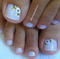 Pedicure nail art at home 50 ideas Pedicure Nail Art, Toe Nail Art, Cute Toe Nails, Pretty Nails, Nail Shapes Square, Summer Toe Nails, Toe Nail Designs, Nails Design, French Tip Nails