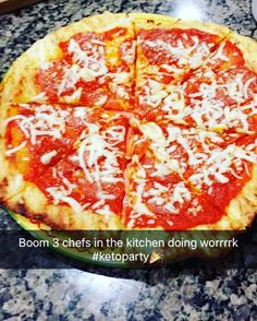 When you invite two of your girl friends over because they are so excited to try this #glutenfree #ketogenic #pizza and one of them snap chats this  welcome to the keto life ladies I know its delicious   #keto #ketosis #ketogenicdiet #ketolife #ketolifestyle #ketoliving #glutenfreepizza #homemadepizza #cheesecrust #ketogeniclifestyle - Inspirational and Motivational Ketogenic Diet Pins - Eat Keto Get Into Nutritional Ketosis - Discover LCHF to Prevent Diseases - Enjoy Low-Carb High-Fat…