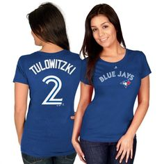 Troy Tulowitzki Toronto Blue Jays Majestic Women's Official Name & Number T-Shirt - Royal Blue Jays Game, Ben Zobrist, Troy Tulowitzki, Royal Clothing, Toronto Blue Jays, Home Team, Kansas City Royals, Baseball Shirts, Clothes For Women