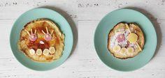 Kids: Pannenkoeken met een gezichtje