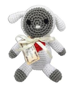 Eco-friendly and made especially for the Pup that has a light bite! Knit Knacks Crocheted Small Dog Toys are made from 100% organic cotton, and are hand crocheted, with a squeaker inside for hours of
