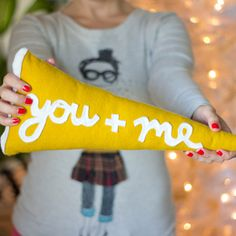 You + Me DIY Pillows - These You + Me DIY Pillows make fantastic gifts. They would be an amazing anniversary gift for your man or an adorable DIY wedding gift.