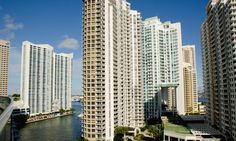 The great Carbonell condo architecture by J. Scott Architect makes a real statement in Brickell Key real estate.