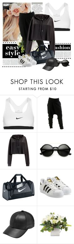 """1million dance studio"" by kpoplover21 ❤ liked on Polyvore featuring NIKE, H&M and adidas Originals"