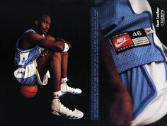 Vintage ad: michael jordan in unc nike poster, nike ad, sports marketing, n Vintage Nike, Vintage Ads, Unc Sports, Sports Stars, Reebok, Nike Poster, Shoe Advertising, Nike Ad, Air Jordan 9
