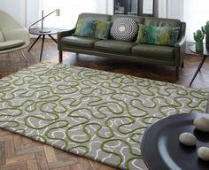 Details Zu Teppich Wohnzimmer Carpet Modernes Design SQUIGGLE ZICK ZACK RUG Wolle Gnstig