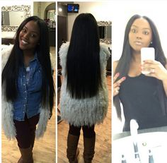 Sew in middle part long hair Indian hair straight hair versatile weave