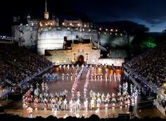 Edinburgh Military Tattoo held during the entire month of August each year. This is held at Edinburgh Castle.