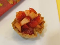 Cinnamon Fillo Crisps with Strawberry Apple Salsa