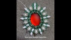 "DIY Tutorial - ""Christmas Time"" Embedded Cabochons with Superduo and see..."