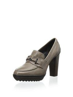 58% OFF Tod's Women's Loafer Platform Pump (Grey)