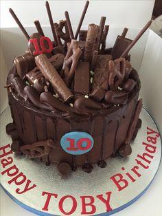Chocolate fudge cake overload